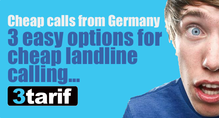 Cheap international calls from Germany: 3tarif