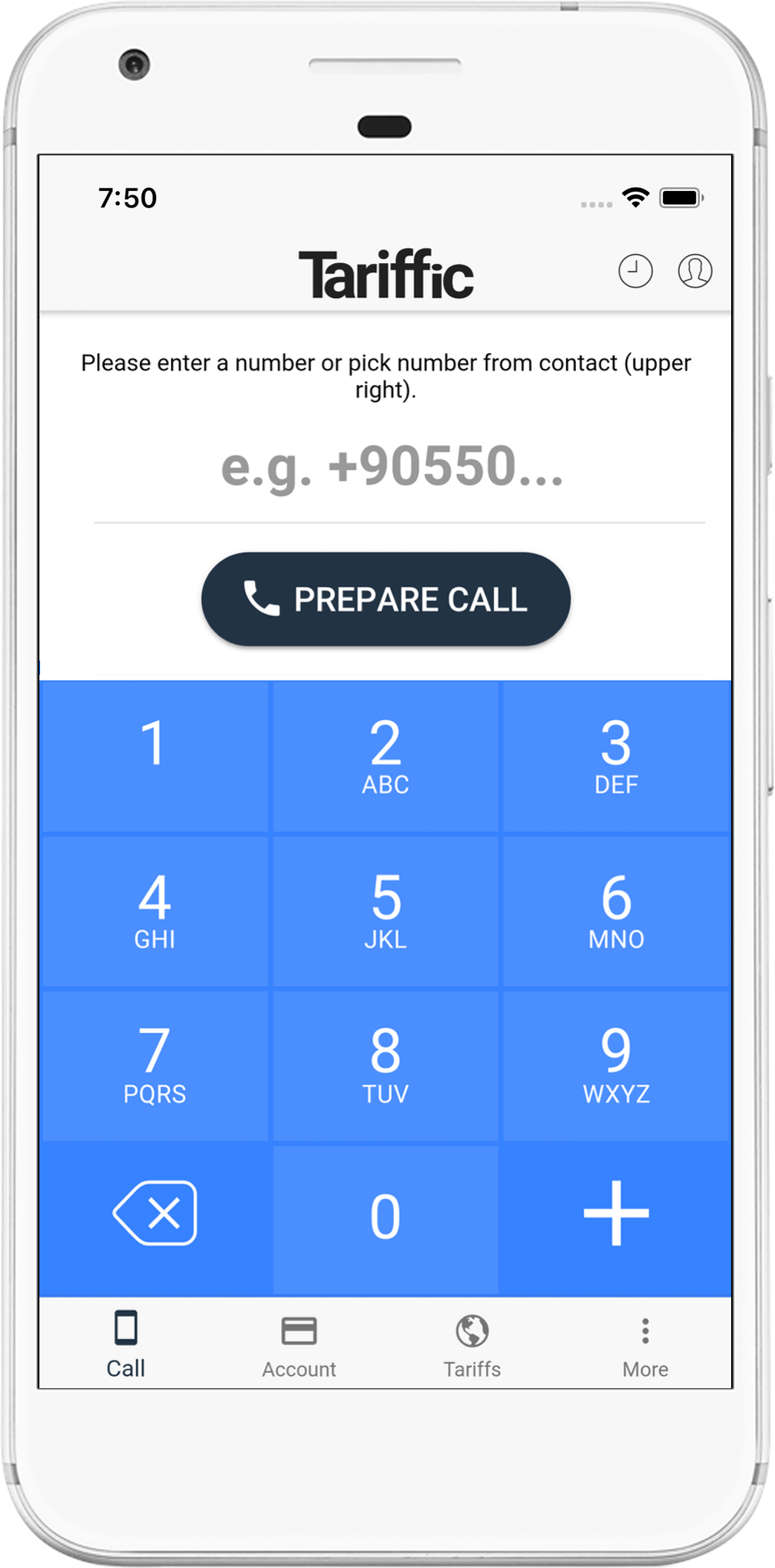 Tariffic for Android - Low cost international phone calls